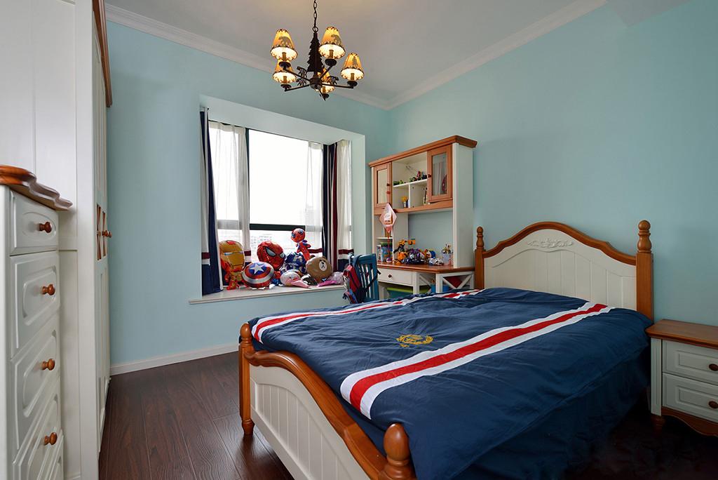 美式风格蓝色儿童房装修效果图