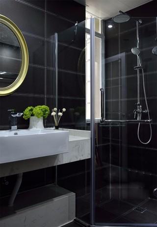 现代简约风黑色卫生间装修效果图