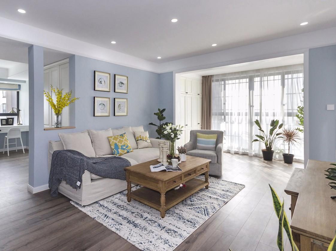 现代美式风格客厅装修效果图
