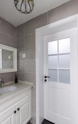 现代美式风格卫生间洗手台装修效果图