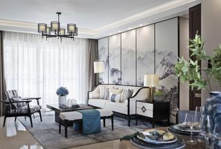 新中式沙发背景墙装修效果图