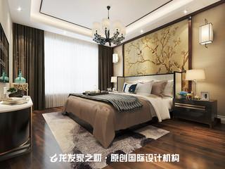 120平新中式卧室装修效果图