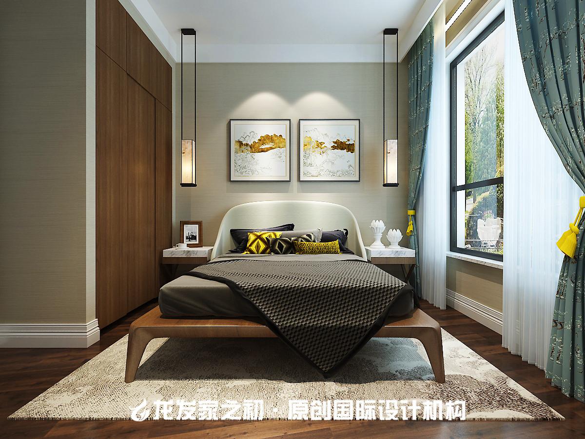 120平新中式卧室装修设计图