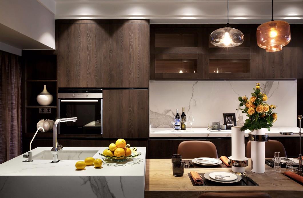 现代简约西厨餐厅装修设计效果图