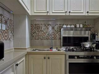 110㎡美式风格厨房装修设计图