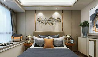 现代轻奢风卧室背景墙装修效果图