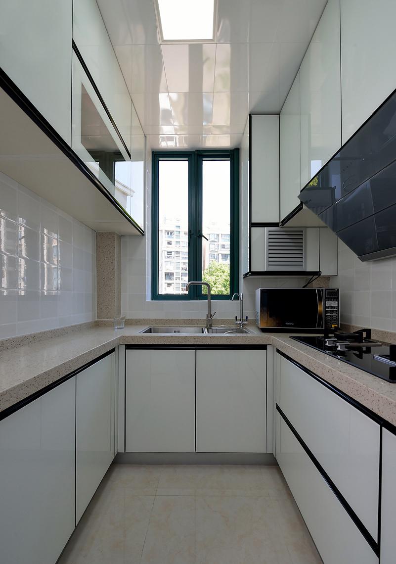 80平简美风格厨房装修设计图