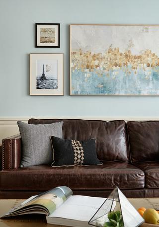 美式风格两居室装修沙发布置图