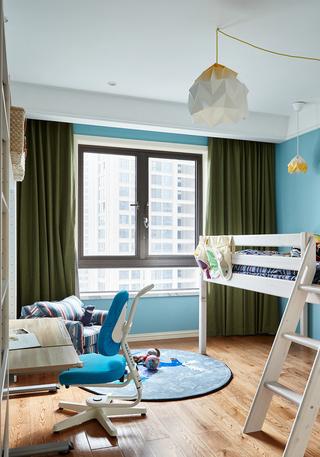 美式风格两居室儿童房装修设计图