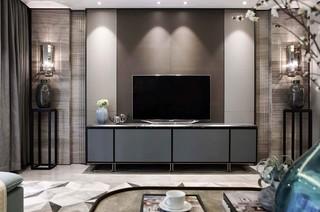 现代中式风格电视背景墙装修效果图
