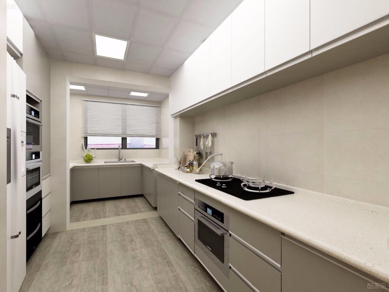L型厨房装修效果图