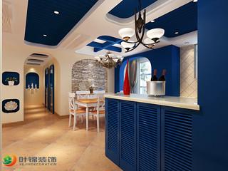 地中海三居室走廊装修效果图