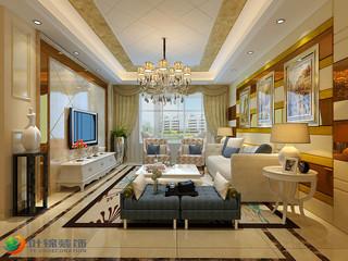 欧式风格二居客厅装修效果图