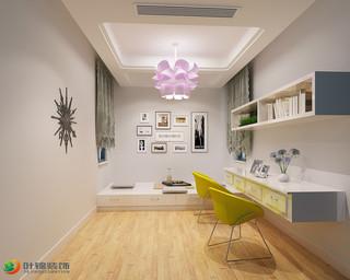 現代簡約三居書房裝修設計圖