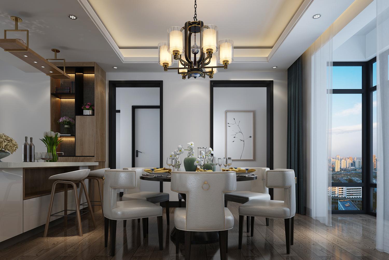中式风格两居餐厅装修效果图