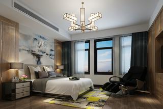 中式风格两居卧室装修效果图
