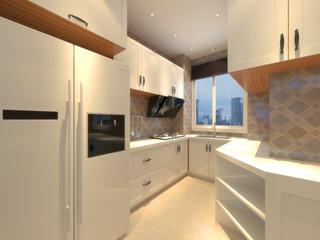 混搭风格两居室厨房装修布局图