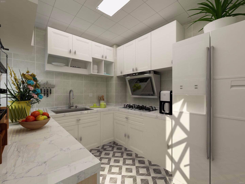 80平简约风格厨房装修效果图