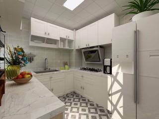 80平簡約風格廚房裝修效果圖