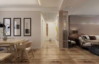 新中式风格客餐厅过道装修效果图