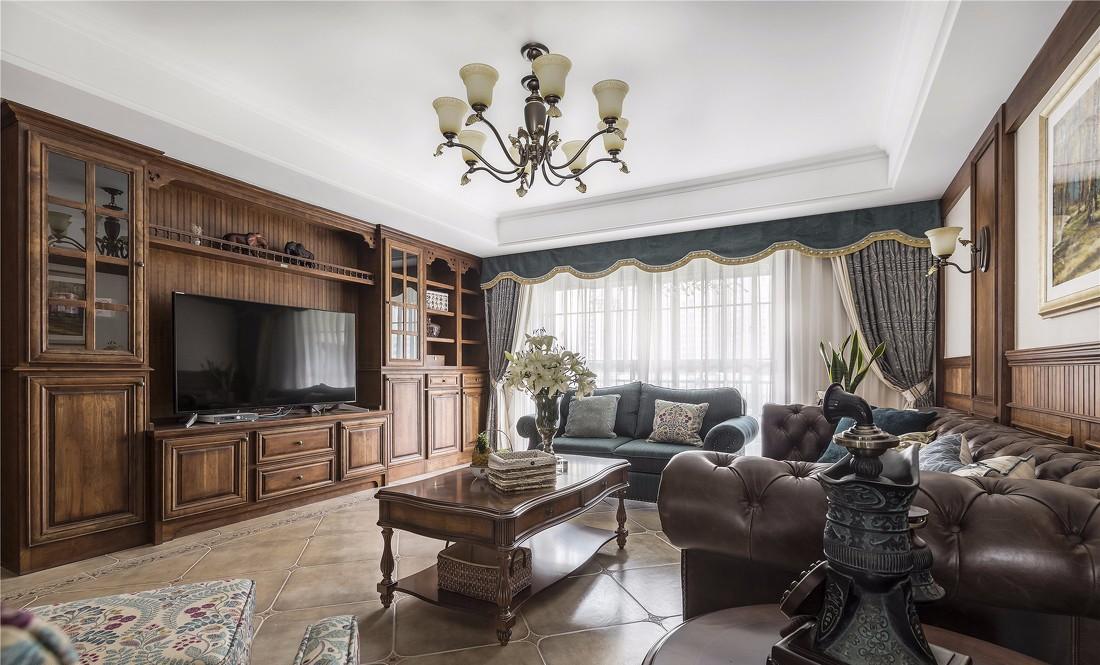 美式风三居客厅装修效果图