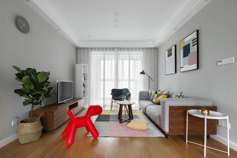 118平北欧风格客厅装修效果图