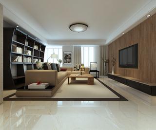 现代混搭两居客厅装修效果图
