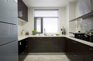 简约中式厨房装修效果图