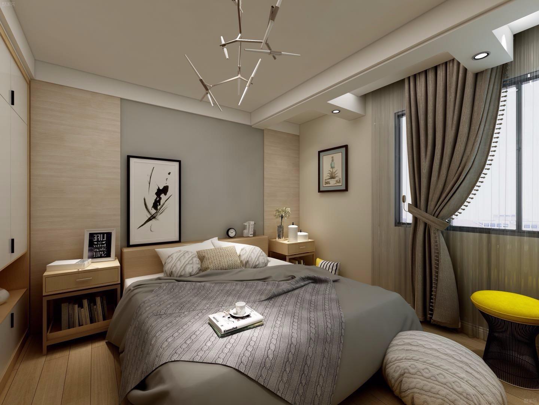 清新简约卧室装修效果图
