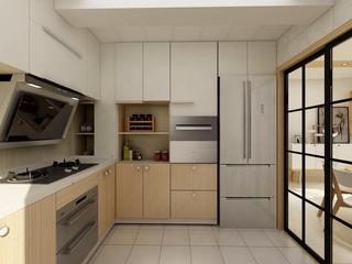 清新簡約廚房裝修效果圖