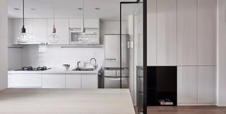 简约风格开放式厨房装修效果图