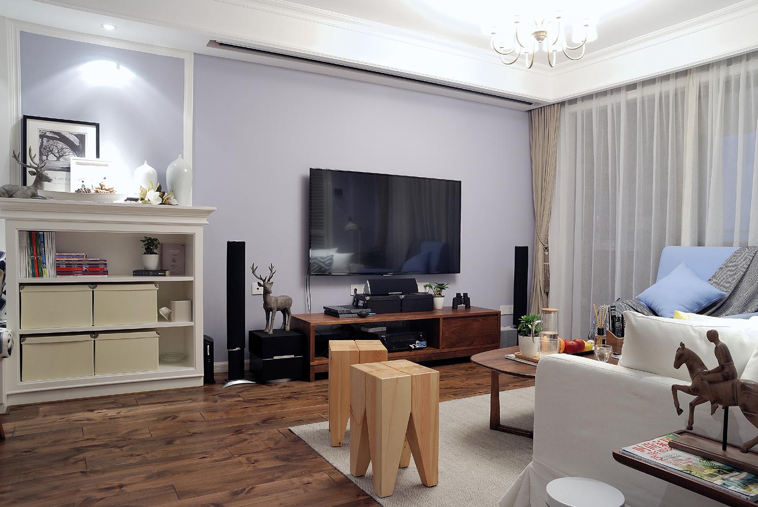 简约美式电视背景墙装修设计图