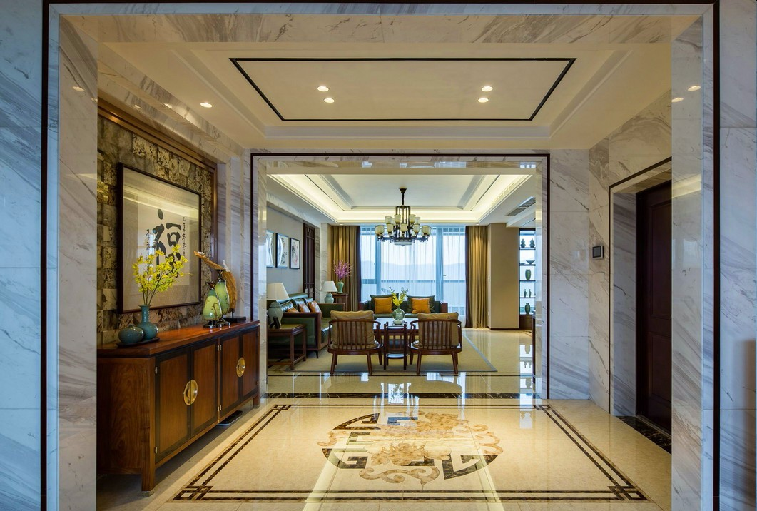 大户型新中式风格门厅装修效果图