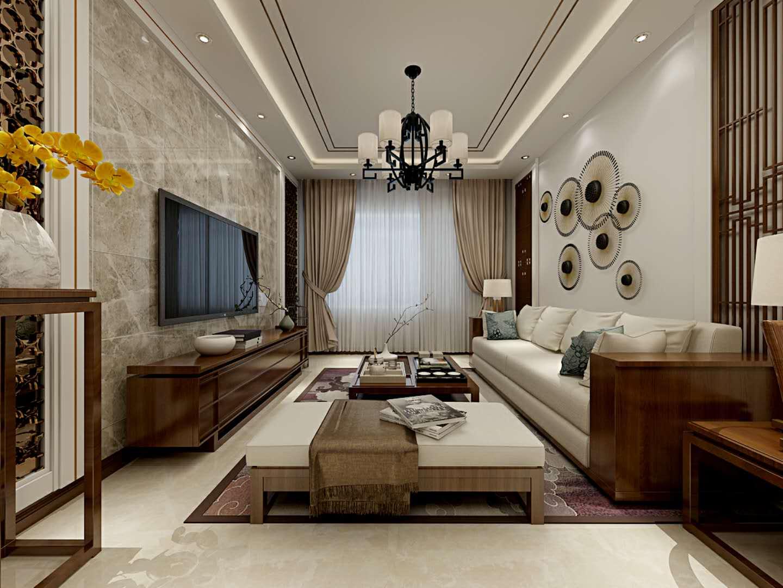 中式风格两居室客厅装修效果图