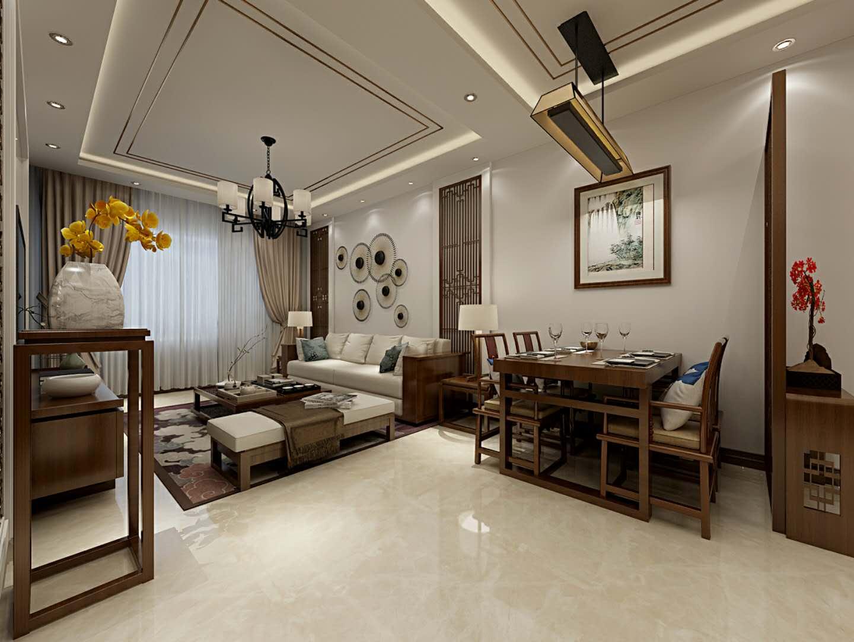 中式风格两居室餐厅装修效果图