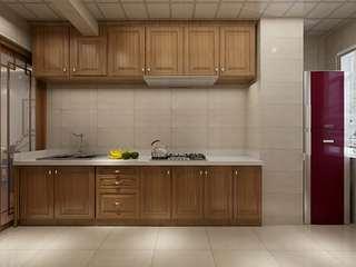 中式风格两居室厨房装修效果图