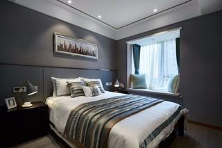 灰色調現代簡約風臥室裝修效果圖