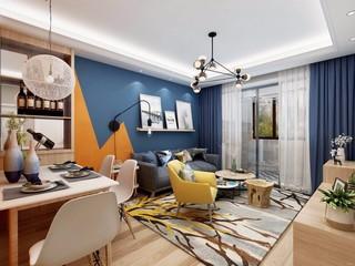 北欧风格二居客厅每日首存送20