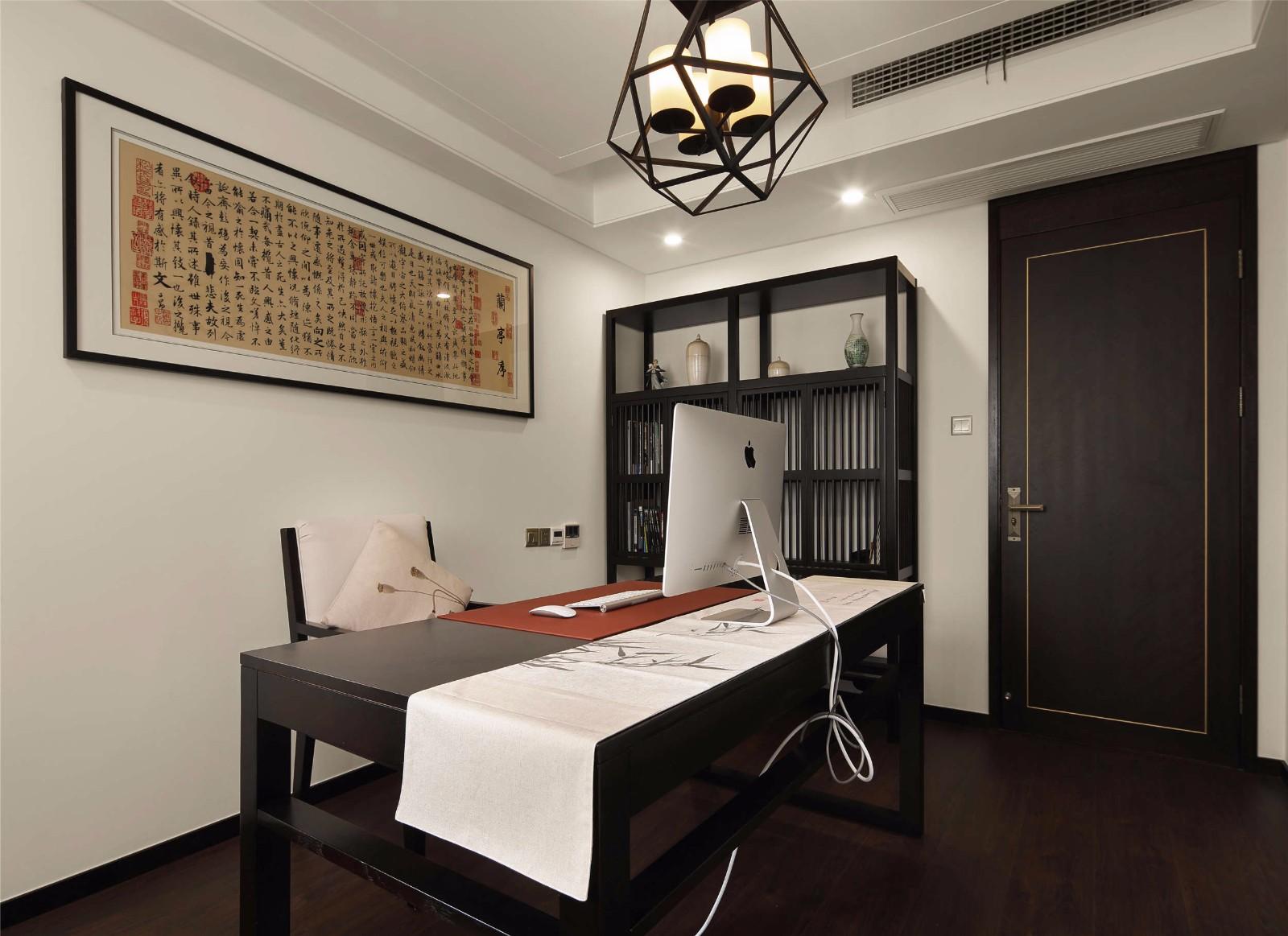 中式风格三居书房装修效果图