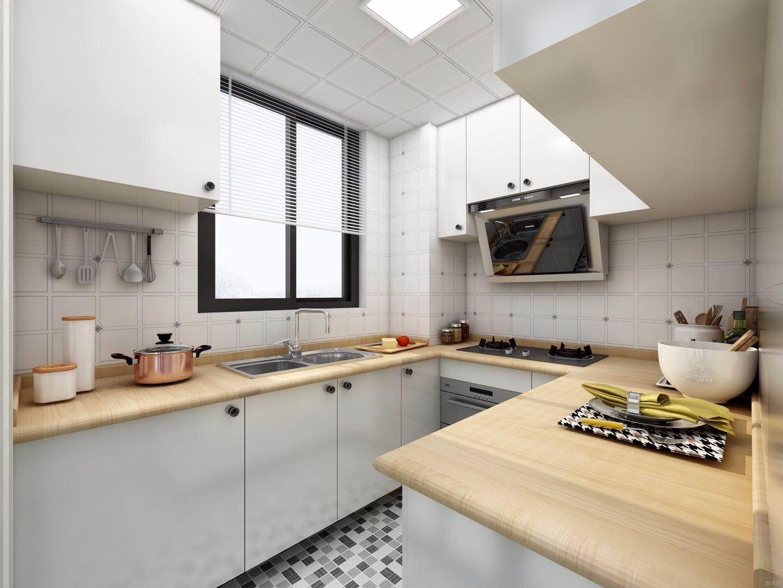 89平米北欧风厨房装修效果图