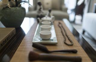 新中式风格装修茶几静物特写