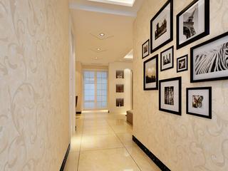 现代简欧三居室走廊装修效果图