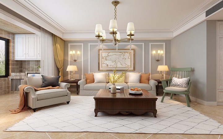 温馨简美三居室装修效果图