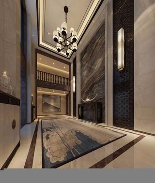 中式风格别墅门厅设计效果图