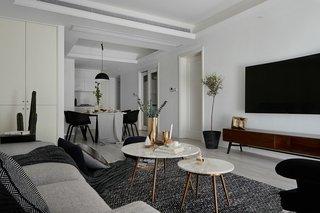 黑白北欧风二居客厅装修效果图