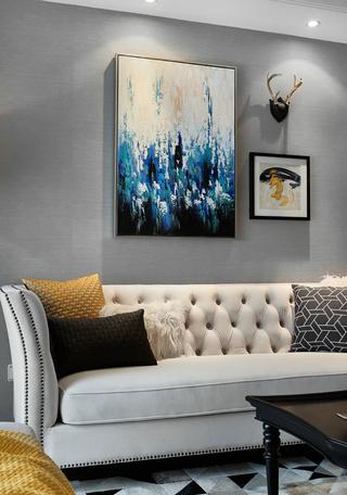 三居室美式风格装修沙发效果图