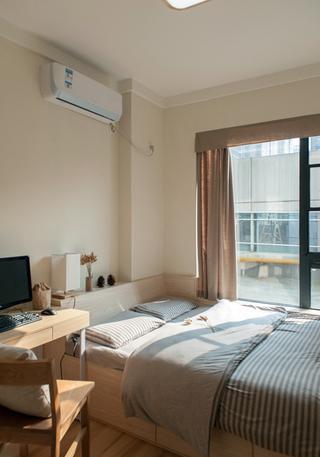 日式风格两居室装修卧室布置图