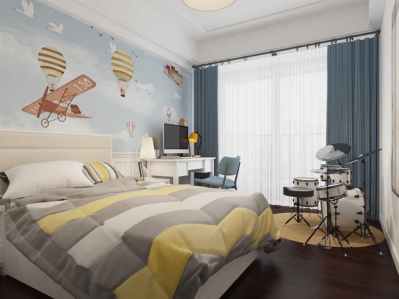 现代简约卧室装修搭配图