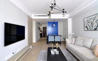110平现代简约两居装修效果图