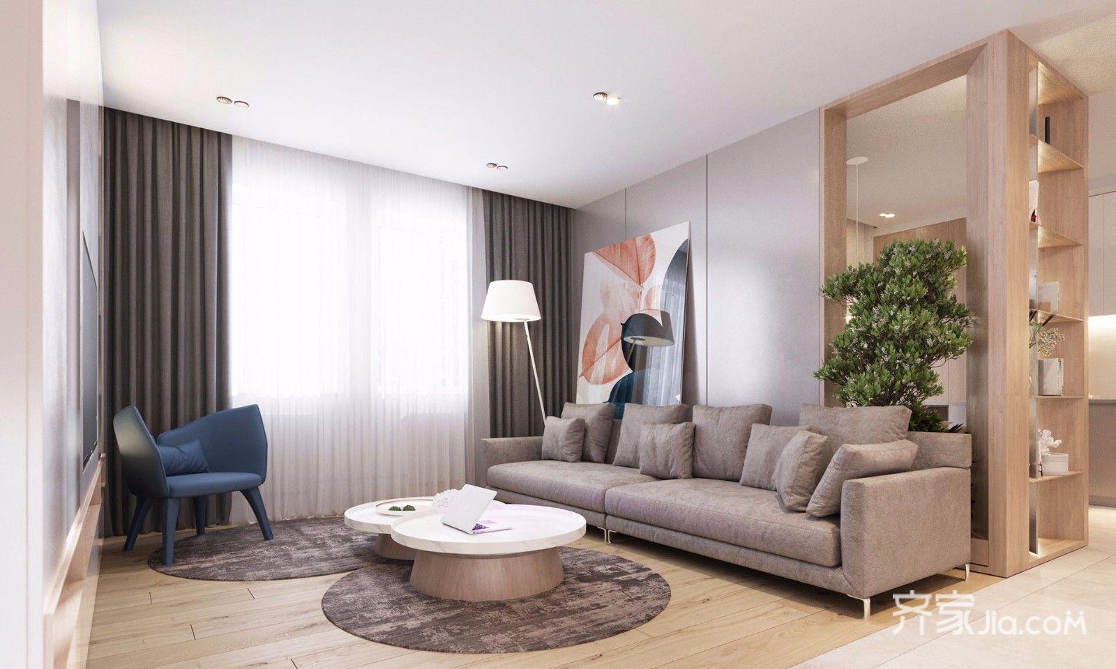 现代风格公寓客厅装修效果图